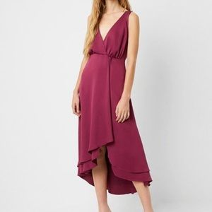 French Connection Alessia Satin Wrap Dress